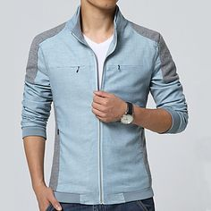 Spring Summer 2017 Men Jackets Fashion Casual Men's Coats Slim Fits Plus Size Hoodie Outfit, Sweater Hoodie, High Fashion Men, Mens Fashion, Winter T Shirts, Blazers, Outfit Sets, Men Dress, Menswear