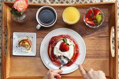 Aqui está uma bela sugestão de café da manhã na cama