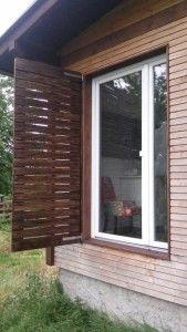 Fensterladen selbstgemacht
