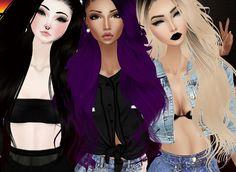 imvu, 3girls, and imvugirls afbeelding