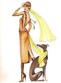 fashion illustration by Ayna N