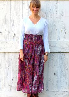 peasant dress upcycled boho hippie dress women's by wearlovenow, $44.00