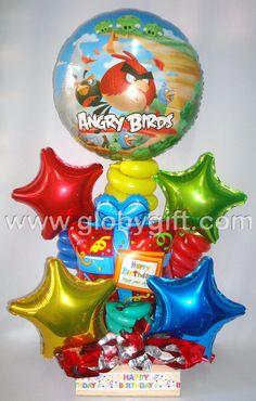 Arreglo con globos de Angry Birds