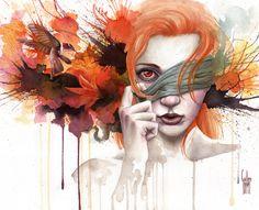 'Alternative' · Watercolor, acrylic & pastel. Facebook · Tumblr · Blog · Deviantart · @guillembe