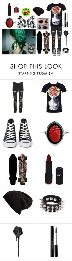 """❇ Panic! At The Disco ❇"" by soft-tissue ❤ liked on Polyvore featuring Converse, Couture by Lolita, NYX, Free People, Apex, MAKE UP FOR EVER and Essie"
