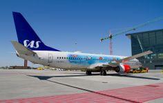 #Boeing 737 with unusual #painting / #airplane #airport #gdansk #epgd; photo: Sebastian Elijasz / Port Lotniczy Gdańsk