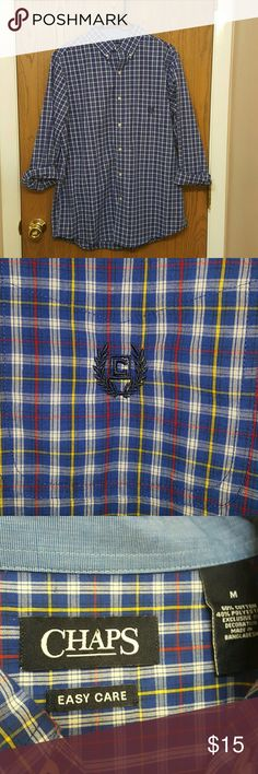 NWOT Men's Button-Up This is a men's plaid Chaps button-up. Size medium. Item is in perfect condition NWOT. Chaps Shirts Casual Button Down Shirts