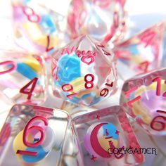 How'd you get so sweet? Candy Swirl dice set in all it's cheery glory