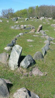 Viking graves at Lindholm Høje, Denmark.