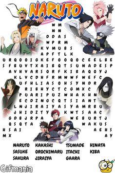 Find Naruto Shippuden characters in this word search puzzle. Anime Naruto, Naruto Comic, Naruto Shippuden Sasuke, Naruto Kakashi, Naruto Shippuden Figuren, Naruto Eyes, Naruto Shippuden Characters, Naruto Cute, Otaku Anime