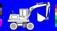 Learn colors for kids with crane truck | Construction truck coloring pag...