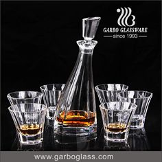 Glass Decanter set with 6pcs cup ,love it