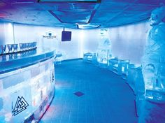 Check out the ICE BAR on the Norwegian Epic.  From- The Hottest Cruise Ship Bars : Daily Traveler : Condé Nast Traveler