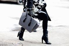 Street style semana de la moda de nueva york febrero 2015 look Total Back