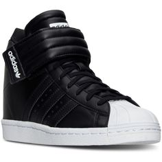 adidas Women's Superstar Up Strap Casual Sneakers from Finish Line ($100) ❤  liked on