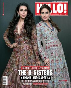 Stunning  the Cover Page of Hello Magazine for this year's Diwali edition, the 'K' Sisters rocked the Style Statement with Elegance and Grace. Kareena Kapoor and Karishma Kapoor have amazed us always with their grace and glamour:https://goo.gl/wtYSQl
