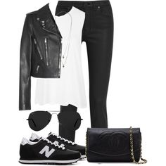 Sem título #422 by cecebay on Polyvore featuring moda, Topshop, Yves Saint Laurent, Madewell, New Balance, Chanel, Wallis and Ray-Ban