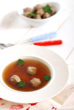 Játrové knedlíčky Soup, Ethnic Recipes, Soups