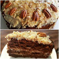 NIEMIECKIE CIASTO CZEKOLADOWE  Idealne na wyjątkowe okazje. Niebo w gębie  W komentarzu zostawiam dla Was przepis #ciasto #cake #chocolate #chocolatecake #germancake #german #germanchocolatecake #pecan #pie #czekolada #pekan #przepis #recipe #deser #dessert #kakaludek #blog #poznan #poznań #polska #poland