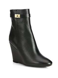 Fendi Bootsc (Cathy Leather Wedge Ankle Boots)