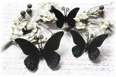 Mostly Black and White by Carla on Etsy--Lucy Spreads Her Wings is featured here.