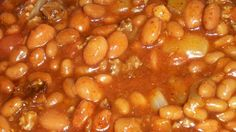 Not your usual baked beans! Green chiles and hot pepper sauce give zest to these eat-'em up sweet-and-hot baked beans.