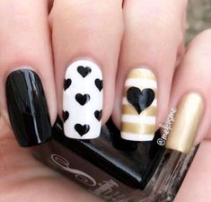 Are you hunting for unique yet pretty spring nails designs? When it comes to stand out in the crowd, every finger counts! From sideways tipped nails to Pretty Nail Designs, Nail Designs Spring, Nail Art Designs, Nails Design, Heart Nail Art, Heart Nails, Valentine Nail Art, Nagellack Trends, Super Nails