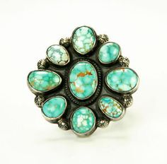 Navajo Number 8 Turquoise Cluster and Silver by Victor Begay C 1940   eBay