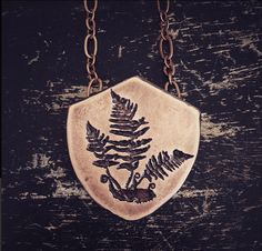 Fern Pendant Etched Copper handmade from by JamieSpinello
