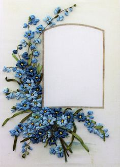 Beautiful floral with area ideal for card sentiment.
