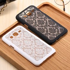 Hot Sales Luxury Hard Plastic Case For Samsung Galaxy J5 J500H J500F J7 J700 J700F E5 E7 Damask Vintage Flower Pattern Cover Bag