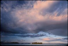 Penobscot Bay Maine     Water sky island isle bay ocean clouds color landscape photograph