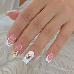 Long Acrylic Nails, Acrylic Nail Art, Trendy Nails, Cute Nails, Nail Candy, Manicure E Pedicure, Cute Nail Designs, Gorgeous Nails, Nail Arts