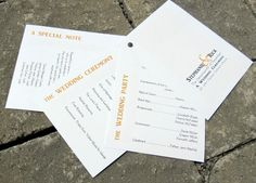 This is a nice simple way to do wedding programs... and there are some fun brads out there to spice up the pages