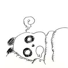 【一日一大熊猫】2017.2.18 日本人の睡眠時間が足りなくて、全体的に眠くて生産性が落ちているとか。 睡眠不足はお肌にもよくないぞ。 今日は安眠の日。 #パンダ #安眠