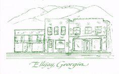Ellijay, Georgia postcard