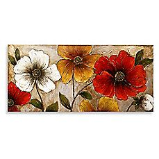 image of Bright Floral Lacquer Wall Art