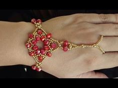 Step by step of a beautiful INDIANA style crystal bracelet – Maguida Silva -… - Jewelry Cuff Jewelry, Seed Bead Jewelry, Beaded Jewelry, Jewelery, Handmade Jewelry, Beaded Necklace, Seed Beads, Slave Bracelet, Hand Bracelet