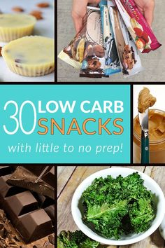 Low Carb Snack Attack! We all know fat is more filling than carbs, but every now and then you get a hankering for something to snack on and you NEEDsomelow carb snacks. Whether it