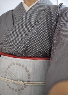 石下結城の江戸小紋に  九寸帯