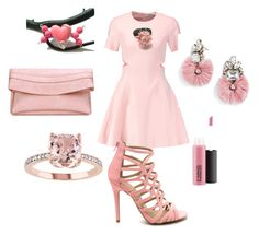 """""""Pretty In Pink"""" by monika-przymuszala ❤ liked on Polyvore featuring Elizabeth and James, MAC Cosmetics and BaubleBar"""