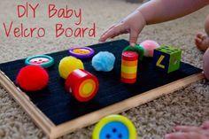 diy baby diy-velcro-baby-board More - Baby Sensory Play, Baby Play, Baby Sensory Lights, Infant Sensory, Baby Sensory Board, Sensory Boards, Montessori Baby, Baby Lernen, Infant Classroom