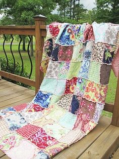 Queen Size Rag Quilt.  Absolutely lovely!  I need to learn how to quilt, or save up enough money to purchase a hand-made quilt from someone else.