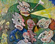 "Lucebert/""Carnaval In de Tovertuin"" oil/canvas, 115x148cm (1980)"