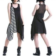 Vestido Gótico Asimétrico | Crazyinlove España