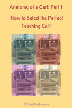 In the previous post, Anatomy of a Cart: Part 1 , we covered what characteristics to look for when searching for an optimal teaching cart. Today, we're Teaching Music, Teaching Tools, Teaching Strategies, Teaching Ideas, Teacher Cart, Teacher Stuff, Traveling Teacher, Art Cart, Music Activities