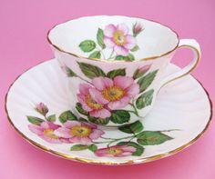 Wild Rose Romance Vintage Delphine China by aquamarinedream