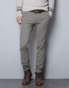 TROUSERS WITH SATIN PIPING - Trousers - Man - ZARA