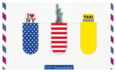 "Magnetic bookmark ""New York"" by Moses Verlag"