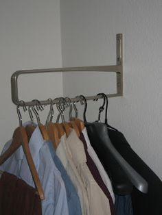 slinga shelf bracket and thought it would make a good hanging rail for the clothes